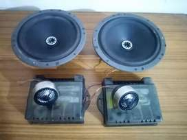 Components speakers for car doors