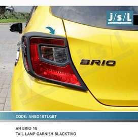 Garnis belakang all new brio hitam