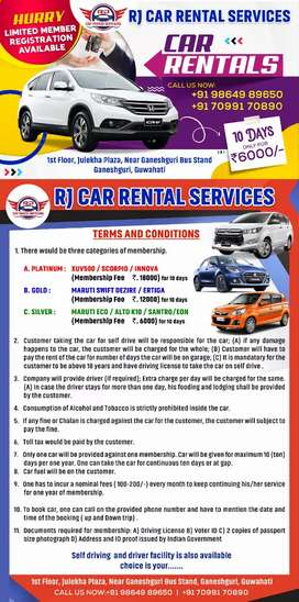 RJ car rental services