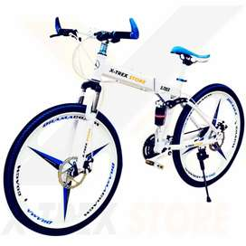 X-Trex Foldable Cycle with 21  Gears combination with Alloy Mac Wheel