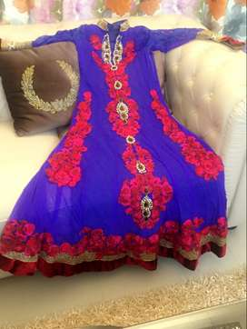 brand new anarkali designer dress with front and