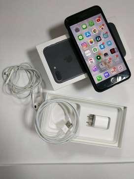 IPhone 7 Plus 128GB Second Black Matte Fullset Mulus