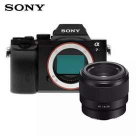 Sony A7 plus lensa FE 50mm f1.8 cash dan kredit