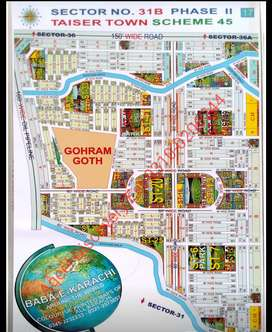 Taiser Town sec 31b Plot Available in Reasonable Rate