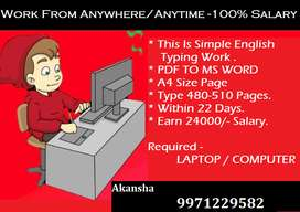Home Based Generated Income With Typing Work