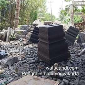Umpak batu asli pengrajin yogyakarta tempel sleman.