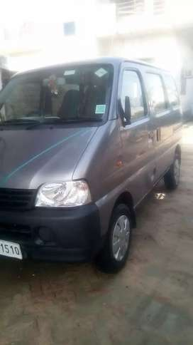 Maruti Ecco 5 seater green CNG and company fitted ac with centre lock