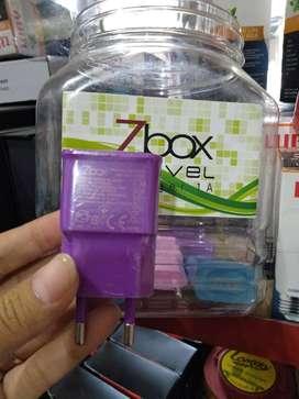 Batok charger kepala cas zbox 1 usb port warna warni (sinar kita)