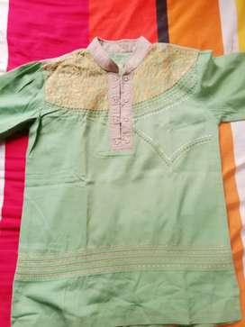 Baju koko Patric warna hijau ukuran 12