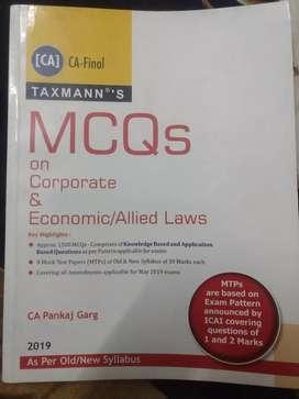 MCQ on Corporate & Economics Laws - By CA Pankaj Garg