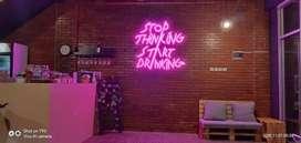 Neonflexy neon flex signage lettersign huruf timbul resto cafe minum