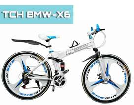 TCH BM X6 Foldable Bicycle with 21Speed Gears and Dual Shock Absorbers