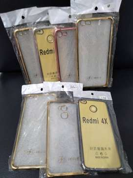 softcase soft case casing anti crack chrome bening (sinar kita)