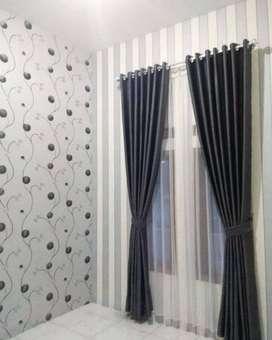 Minimalis Curtain Korden Tirai Hordeng Gorden Gordyn Wallpaper Blinds