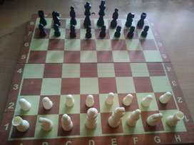 """Foldable 14"""" chess set for collection."""