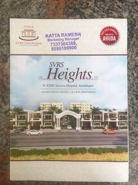 Apartments 2BHK 2Bathrooms and 3BHK 3 Bathrooms available