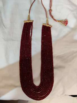Pure Ruby Moti 10 lad Necklace