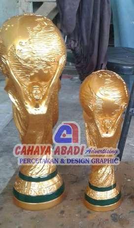 Piala atau Trophy Sepakbola Dunia uk. 26 cm