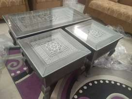 Brand new Mirror center tables set of 3