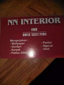 NN INTERIOR,menjual wallpaper,hordeng dan pasang jasa