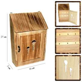 Wooden Key Holder Wall Decor With Front Door Opening free home deliver