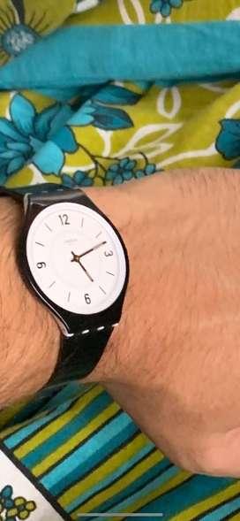 Swatch watch, most slim, unisex watch sporty look