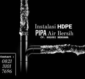 pipa hdpe hitam instalasi air pedesaan