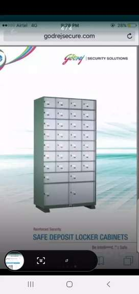 Godrej safe with 32 lockers at 80% discount.