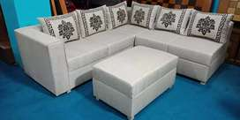 L-Shape 6 Seater with center table
