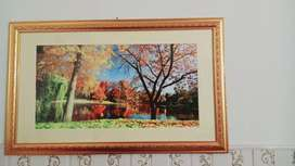Wall hanging painting frame just like new