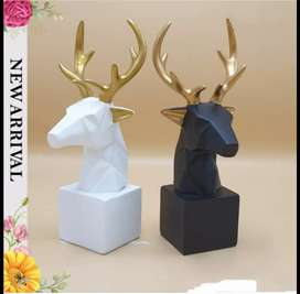 Deer geometric sculpture for home n office decoration