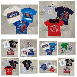Kids Export Surplus Branded summer Multi designed tshirt