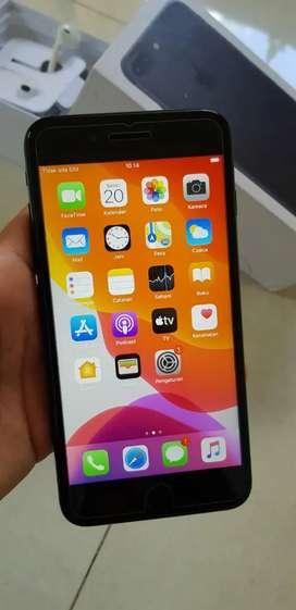 Iphone 7 plus 32gb black mulus lengkap all operator aman