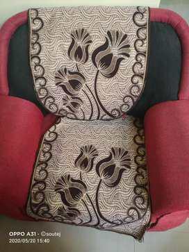 5 seater sofa ,black and red colour