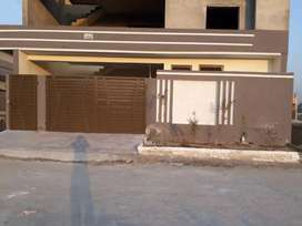 10 Marla house,3 bedrooms with attached baths,hall,kitchen, garage,