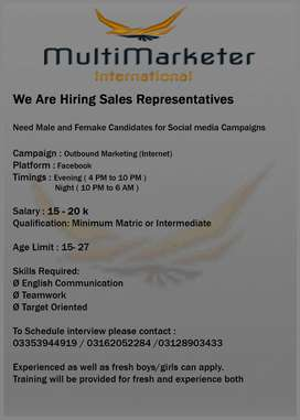 Call Center Sales Agent required