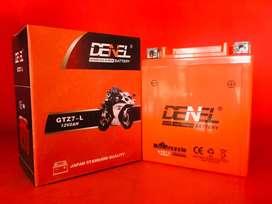 Aki Gel YTX7L utk MOTOR CBR 250, VESPA, KLX, R25,MT25