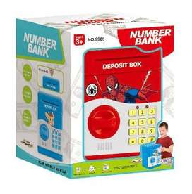 Number Bank Spiderman Brankas ATM Celengan Uang Mainan Anak