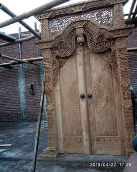 Pintu kusen ukir jati