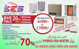Electric+gas blower heaters Energy saver 70% & avail instant geyser