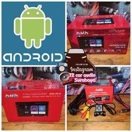 2din android asli merk DHD layar fullglass ram2gb int16gb+camera hd