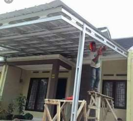 kanopi baja ringan,kanopi galvanis atap galvalume,berkwalitas garansi