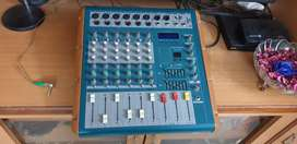 Unisound mixer with inbuilt amplifier and philips tower speakers