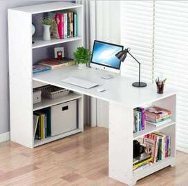 Modern Table with storage shelves