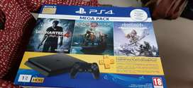 PS4 mega with 1 year warranty and 3 months sony plus subscription