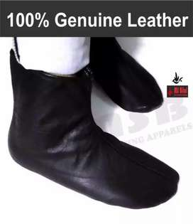Mozay - 'A' Quality - 100% Genuine Leather Socks Warm - Hajj & Umrah