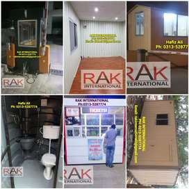 Porta cabin office container guard room prefab house toilet/washroom.