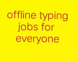 Daily or weekly payment by typing work