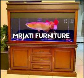 MrJati elegant Bufet Aquarium Minimalis kayu jati