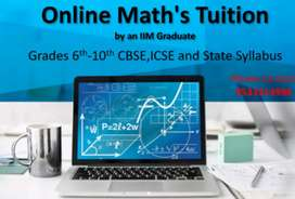 online Maths tuition by an IIM Graduate